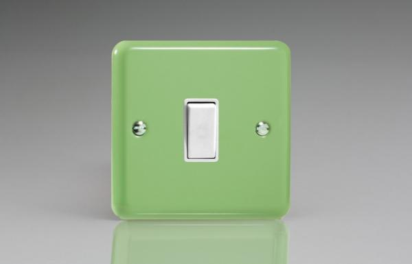 XY1W.BG Varilight 1 Gang (Single), 1 or 2 Way 10 Amp Switch, Classic Lily Beryl Green