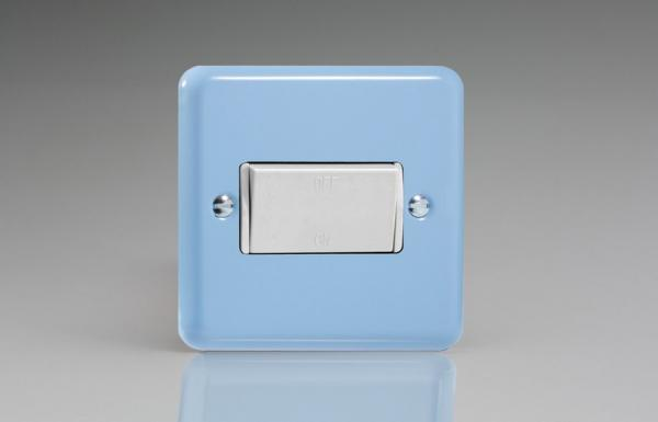 XYFIW.DB Varilight 10 Amp Fan isolating Switch (3 Pole), Classic Lily Duck Egg Blue