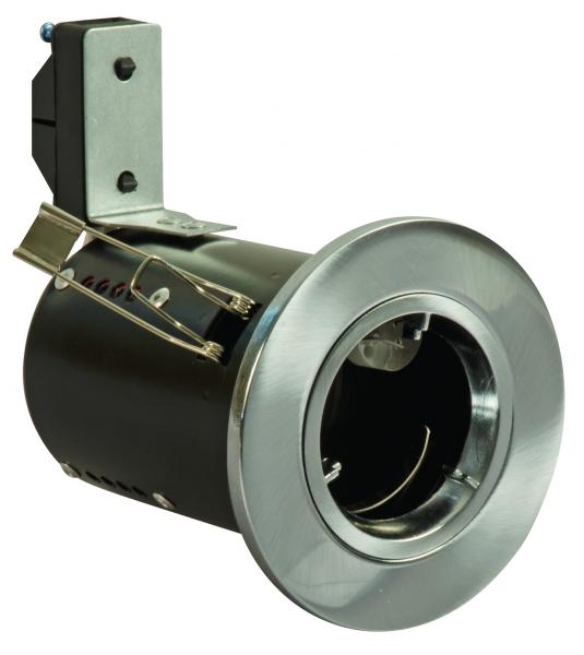 FGFSDC Fire Rated Downlight GU10 Fixed - Satin Chrome - Diecast (This Matches With Varilight's Brushed Steel Ranges)