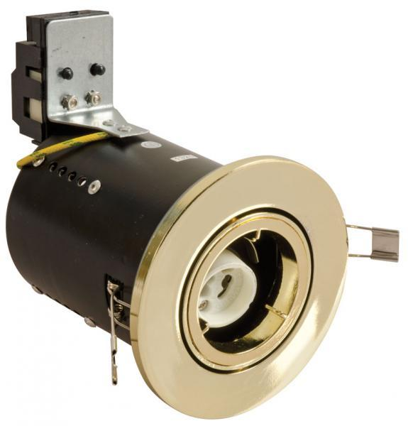 Fire Rated Downlight Low Voltage Tilt- Brass - Diecast  (FLGBDC)