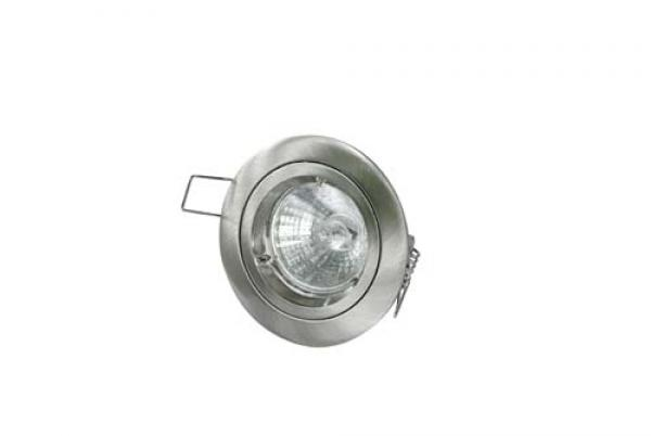 DGFS GU10 Downlight Fixed Satin Chrome Die-cast (This Matches With Varilight's Brushed Steel Ranges)