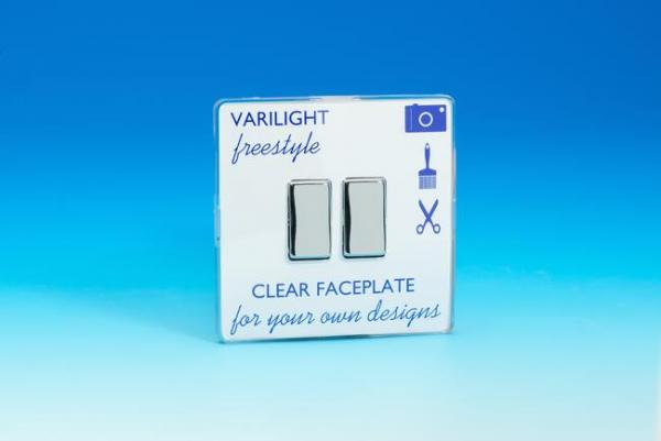 XIF2C Varilight 2 Gang (Double), 1 or 2 Way 10 Amp Switch, Dimension Screwless Freestyle