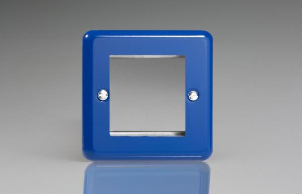 XYG2.RB Varilight Single Size Data Grid Face Plate For 2 Data Modules Width, Classic Lily Reflex Blue