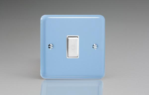 XY7W.DB Varilight 1 Gang (Single), (3 Way) Intermediate 10 Amp Switch, Classic Lily Duck Egg Blue