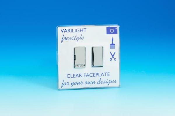 XIF6C Varilight 1 Gang, 13 Amp Switched Fused Spur, Dimension Screwless Freestyle