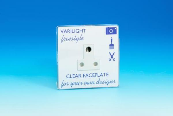 XIFRP5ACW Varilight 1 Gang, 5 Amp Round Pin Socket, Dimension Screwless Freestyle