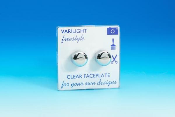 Varilight JIFP252C, V-Pro Series 2 Gang, 1 or 2 Way,Push-On/Off Rotary LED Dimmer 2 x 0-120W (1-10 LEDs), Dimension Screwless Freestyle