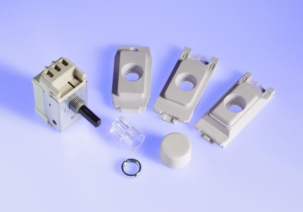 GP400W.MG 2-Way Push-On/Off Rotary Dimmer 60-400W