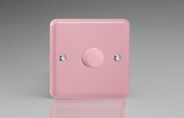 Varilight non-dimming 'Dummy' Series switch 1 Gang 0-1000 Watt Rose Pink