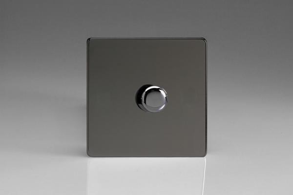 HDI0S-SP Varilight Non-dimming 'Dummy' Series module, 1 or 2 Way Up To 1000 Watt, this is a Bespoke item, Dimension Screwless Iridium Black