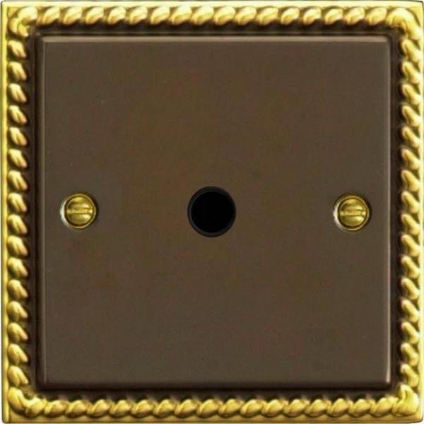 XAFOB Varilight Flex Outlet Plate with Cable Clamp. Black insert, Classic Antique Georgian
