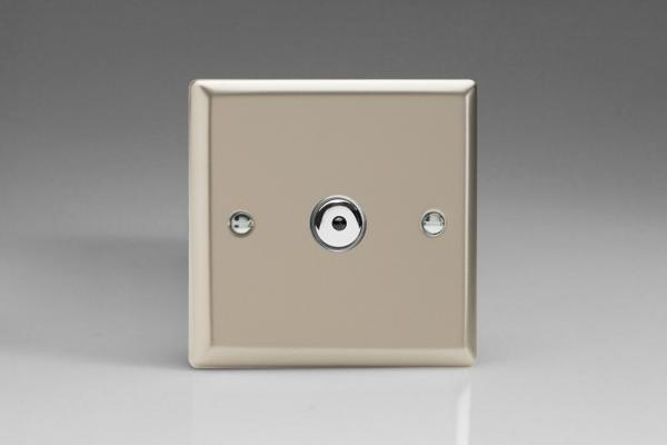 INI601M Varilight 1 Gang, 1 or 2 Way or Multi-way 600 Watt Touch/Remote Master Dimmer, Classic Satin Chrome