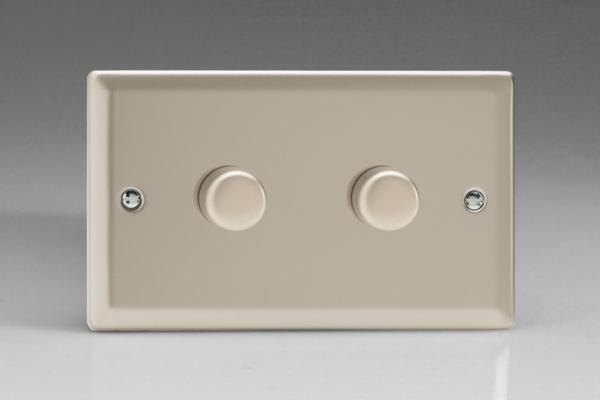 Varilight V-Pro Series 2 Gang 0-120W Trailing Edge LED Dimmer