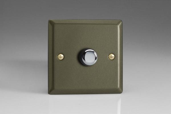 HP6L-SP Varilight V-Dim Series 1 Gang, 1 or 2 Way 630 Watt Low Voltage Dimmer, Classic Graphite 21 (Bespoke)