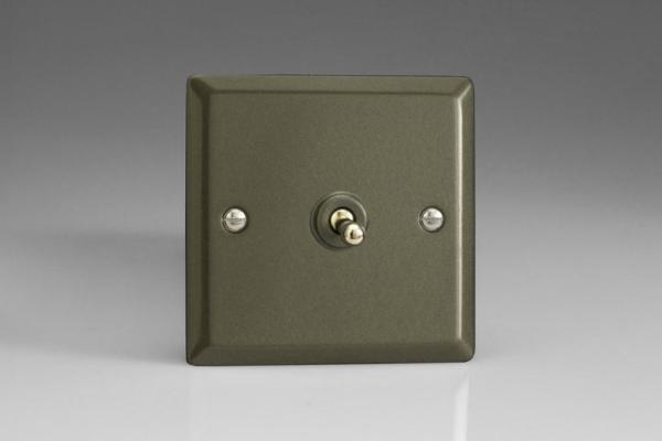 XPT1 Varilight 1 Gang (Single), 1 or 2 Way 10 Amp Classic Toggle Switch, Classic Graphite 21