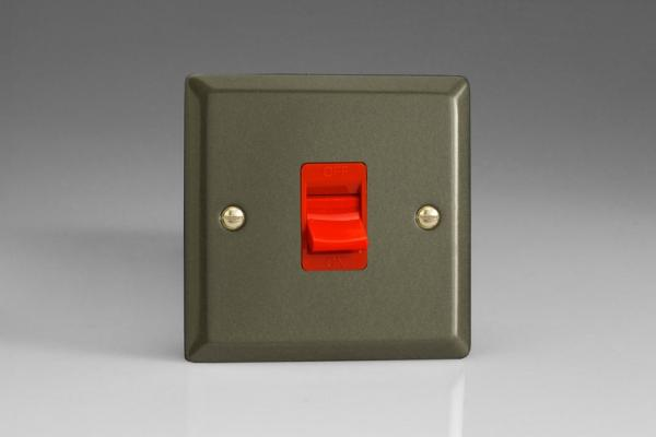 XP45S Varilight 45 Amp Cooker Switch (Single Size), Classic Graphite 21