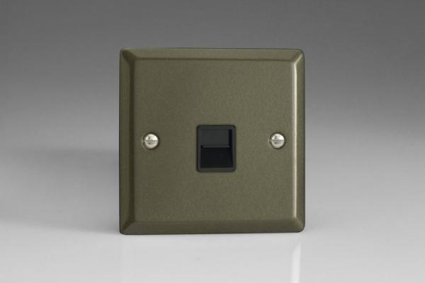 XPTMB Varilight 1 Gang (Single), Telephone Master Socket, Classic Graphite 21