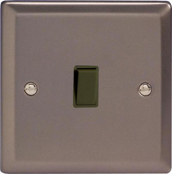 XRBPB Varilight 1 Gang (Single), 1 Way, 10 Amp Retractive Switch (Bell and Blind Switch), Classic Pewter