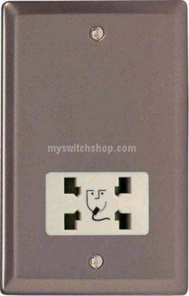 XRSSW-SP Dual Voltage Shaver Socket, Classic Pewter