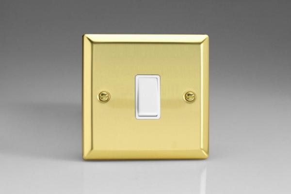 XVBPW Varilight 1 Gang (Single), 1 Way, 10 Amp Retractive Switch (Bell and Blind Switch), Classic Victorian Polished Brass Effect
