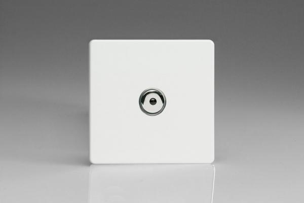 IDQI601MS Varilight 1 Gang, 1 or 2 Way or Multi-way 600 Watt Touch/Remote Master Dimmer, Dimension Screwless Premium White