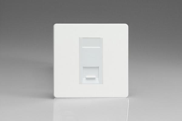 XDQGTSWS Varilight 1 Gang (Single), Telephone Slave Socket, Dimension Screwless Premium White with White insert