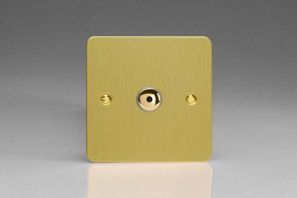 IFBI401M Varilight 1 Gang, 1 or 2 Way or Multi-way 400 Watt Touch/Remote Master Dimmer, Ultra Flat Brushed Brass Effect