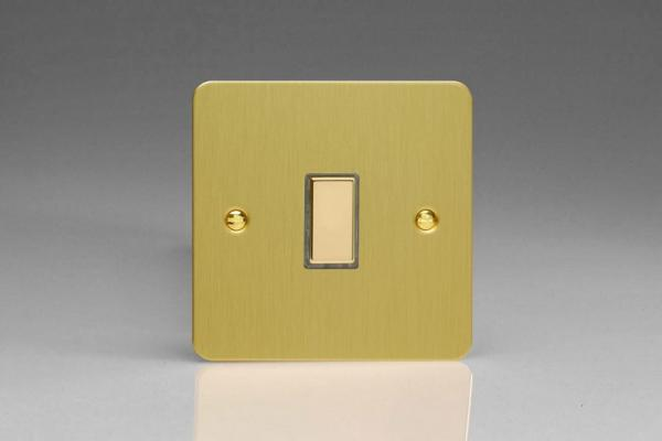 JFBES001 - Varilight V-Pro Series Eclique2  (Multi Point Remote), 1 Gang Tactile Touch Button Slave Unit for 2 way or Multi-way Circuits Only, Ultra Flat Brushed Brass Effect