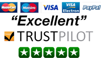 Credit cards, Paypal and trustpilot reviews